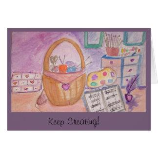 Keep Creating! Card