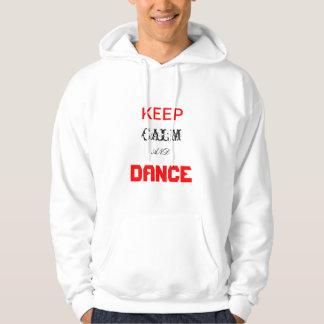 KEEP, DANCE, CALM, AND, DANCE HOODIE