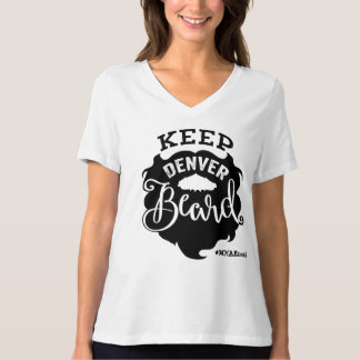 """Keep Denver Beard"" Women's V-Neck T-Shirt"