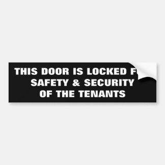 KEEP DOOR LOCKED BUMPER STICKER
