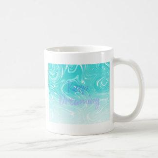 Keep Dreaming Typography on Liquid Marble Design Coffee Mug