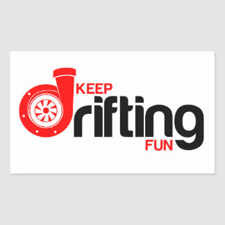 Keep Drifting Fun Sticker