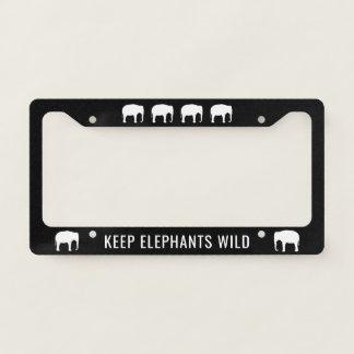 Keep Elephants Wild License Plate Frame