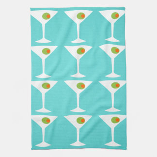 Keep 'Em Coming Martini Kitchen Towel (turquoise)