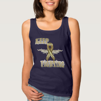 Keep Fighting Child Cancer Spaghetti Strap Tank Top