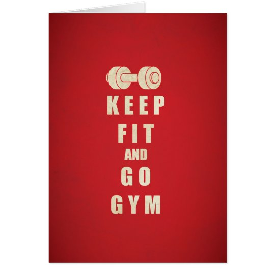 Keep Fit and Go GYM Quote Card