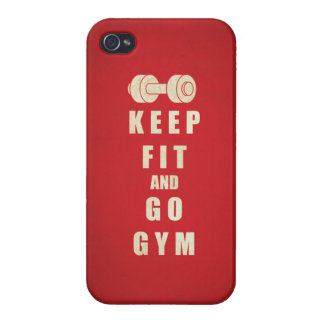 Keep Fit and Go GYM Quote iPhone 4 Cases