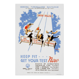 Keep Fit Get Tested 1939 WPA Poster