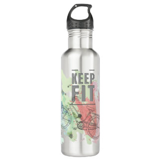 Keep Fit Water Bottle (24 oz), Stainless Steel