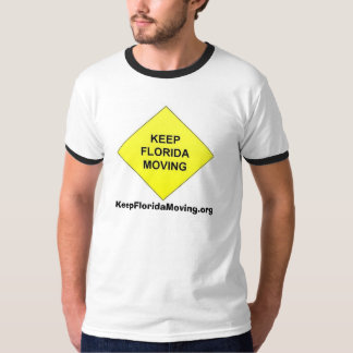 Keep Florida Moving Diamond traffic shield T-Shirt
