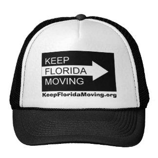 Keep Florida Moving hat in black & white