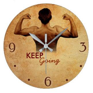 Keep Going - Inspirational gym wall clock