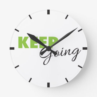 Keep Going - Inspirational Workout Saying Wall Clocks