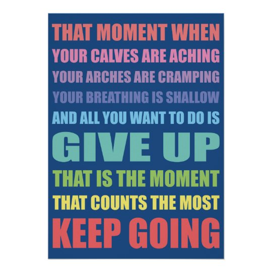 Keep Going Irish Dance Poster