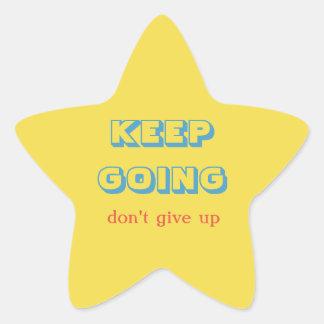 Keep Going Star Sticker