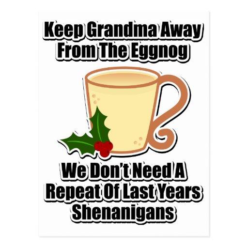 Keep Grandma Away From The Eggnog Postcards