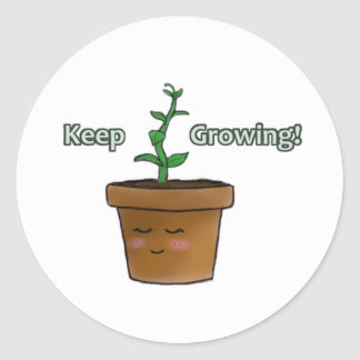 Keep Growing Round Sticker