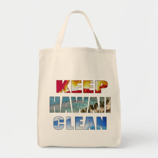 """Keep Hawaii Clean"" Hawaiian Tote Canvas Bags"
