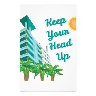 Keep Head Up Customized Stationery
