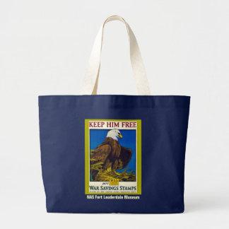 Keep Him Free Jumbo Tote Bag