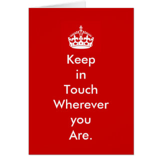 Keep in Touch Notecard