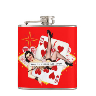 Keep It Classy Las Vegas Hip Flask