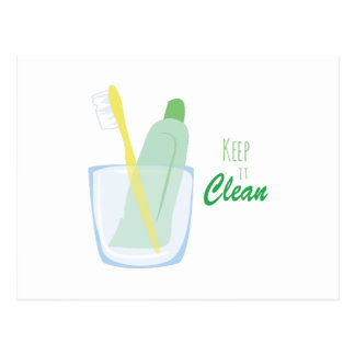 Keep it Clean Postcard
