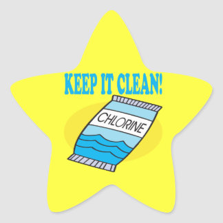 Keep It Clean Star Sticker