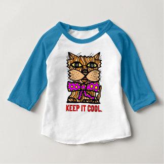 """Keep It Cool"" Baby 3/4 Raglan T-Shirt"
