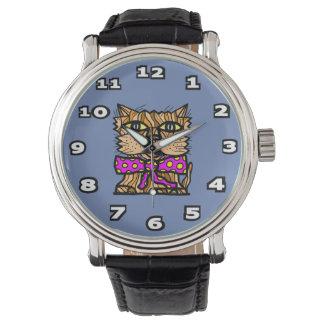 """Keep It Cool"" Black Vintage Leather Watch"