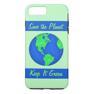 Keep It Green Save Earth Environment Art iPhone 8 Plus/7 Plus Case