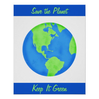 Keep It Green Save Earth Environment Wall Art