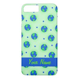 Keep It Green Save Earth Globe Pattern Art iPhone 7 Plus Case