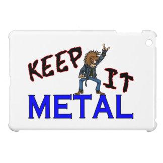 Keep It Metal iPad Mini Cover