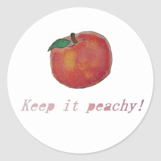 Keep It Peachy! Classic Round Sticker