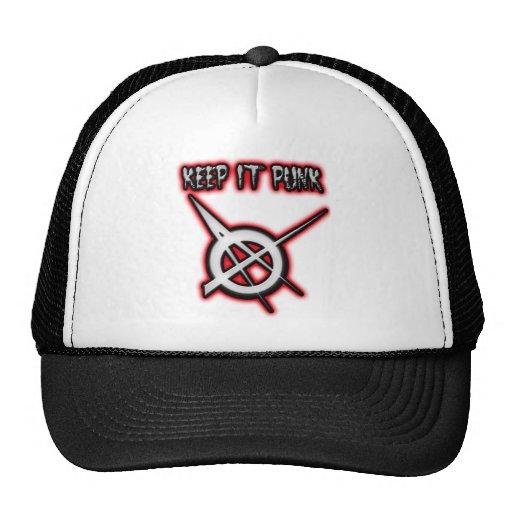 KEEP IT PUNK guys girls Punk Music Mesh Hats