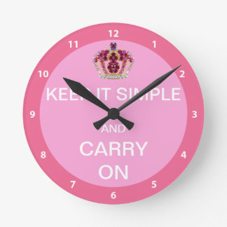 Keep it Simple and Carry On Wall Clock