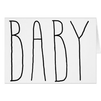 Keep It Simple Baby Card