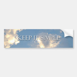 Keep It Simple Clouds Bumper Sticker
