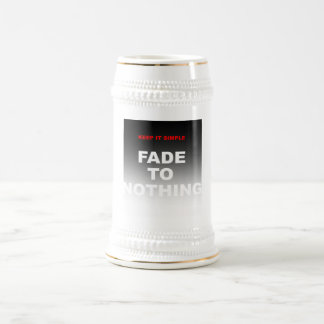 Keep it simple, fade to nothing beer stein