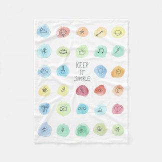 Keep It Simple Splotch Pattern on Blanket