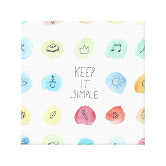 Keep It Simple Splotch Pattern on Canvas Print