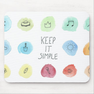 Keep It Simple Splotch Pattern on Mousepad