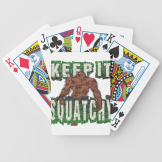 KEEP IT SQUATCHY BICYCLE PLAYING CARDS