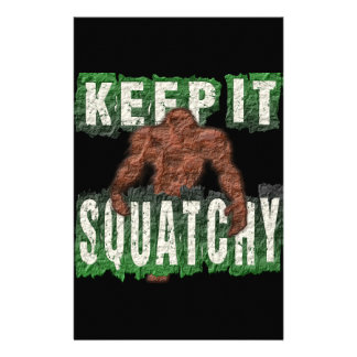 KEEP IT SQUATCHY STATIONERY