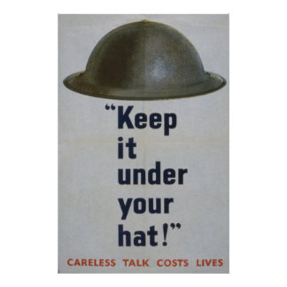 Keep It Under Your Hat, 1944-1945 Poster