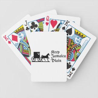 Keep Jamaica Plain Bicycle Playing Cards
