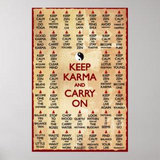 Keep Karma And Carry On Poster
