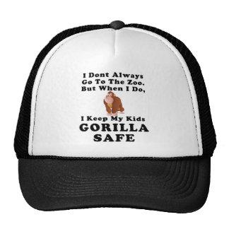 Keep Kids Gorilla Safe (color) Trucker Hat