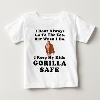 Keep Kids Gorilla Safe (colored) Baby T-Shirt